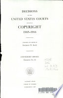Decisions of the United States Courts Involving Copyright