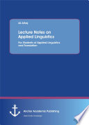Lecture Notes on Applied Linguistics