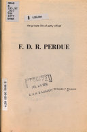 The Private Life of Petty Officer F D R  Perdue