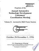 Preprints of the Annual Automotive Technology Development Contractors  Coordination Meeting