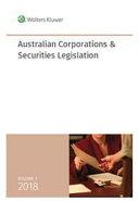 Cover of Australian Corporations and Securities Legislation 2018