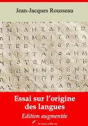 Pdf Essai sur l'origine des langues Telecharger