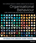 Cover of Organisational Behaviour Core Concepts and Applications, Australasian 5th Edition Hybrid