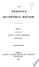 The Foreign Quarterly Review