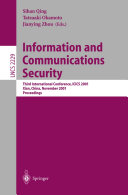 Information and Communications Security Book