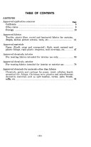 Approved List  Flame Retardant Application Concerns  Fabrics  Materials and Chemicals