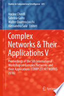 Complex Networks   Their Applications V Book