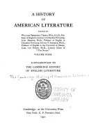 A History Of American Literature Later National Literature Pt 3