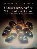 Shakespeare  Aphra Behn and the Canon