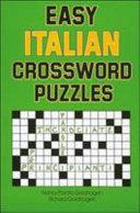 Easy Italian Crossword Puzzles