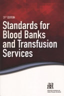 Standards for Blood Banks and Transfusion Services Book