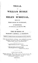Trial of William Burke and Helen M Dougal