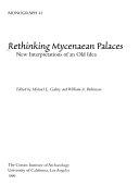 Rethinking Mycenaean Palaces