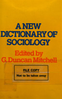 A New Dictionary of Sociology