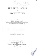 The Seven Lamps of Architecture Book