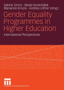 Gender Equality Programmes in Higher Education