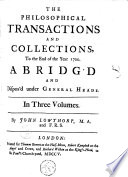 The Philosophical Transactions and Collections