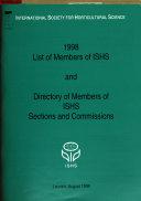 List of Members of I.S.H.S.