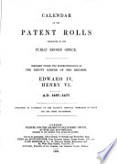 Calendar of the Patent Rolls