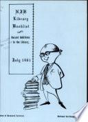 Nih Library Booklist