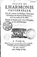 Traité de l'harmonie universelle... ebook