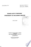 Uranium and Its Compounds