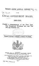 Annual Report of the Local Government Board Book