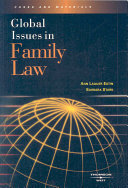 Global Issues in Family Law Book