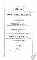The Mirror of Literature  Amusement  and Instruction Book
