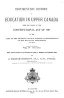 Documentary History of Education in Upper Canada  1841 1843