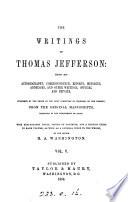 The Writings of Thomas Jefferson  Correspondence  cont