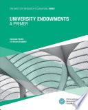 University Endowments  A Primer