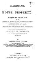 Handbook of House Property
