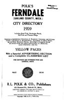 Ferndale City Directories Book