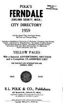 Ferndale City Directories