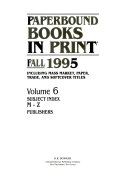 Paperbound Books In Print Fall 1995 Book