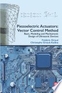 Piezoelectric Actuators: Vector Control Method
