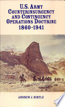 U S Army Counterinsurgency And Contingency Operations Doctrine 1860 1941 Paperbound