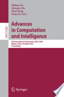 Advances In Computation And Intelligence Book PDF