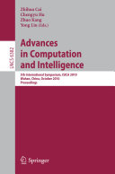 Advances in Computation and Intelligence