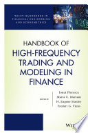 Handbook of High Frequency Trading and Modeling in Finance Book