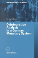 Cointegration Analysis in a German Monetary System