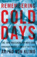 Remembering Cold Days Pdf/ePub eBook