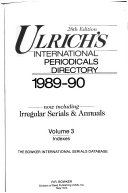 Ulrich's International Periodicals Directory, 1989-1990