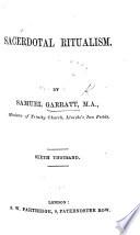 Sacerdotal Ritualism Sixth Thousand