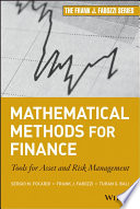 Mathematical Methods For Finance Book PDF