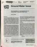 Phytoremediation of Contaminated Soil and Ground Water at Hazardous Waste Sites