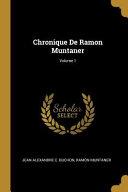 Chronique de Ramon Muntaner;
