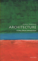 Architecture  A Very Short Introduction Book