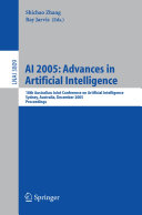 AI 2005  Advances in Artificial Intelligence